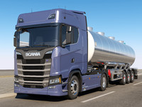 scania s 730 semi trailer c4d