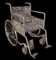 wheel chair obj