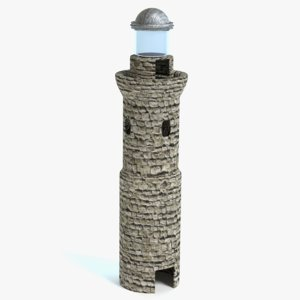 ancient lighthouse 3d fbx