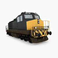 diesel electric locomotive 3d model