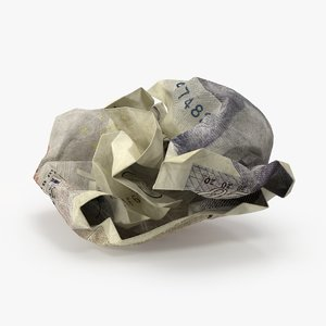 20 pound note crumpled max