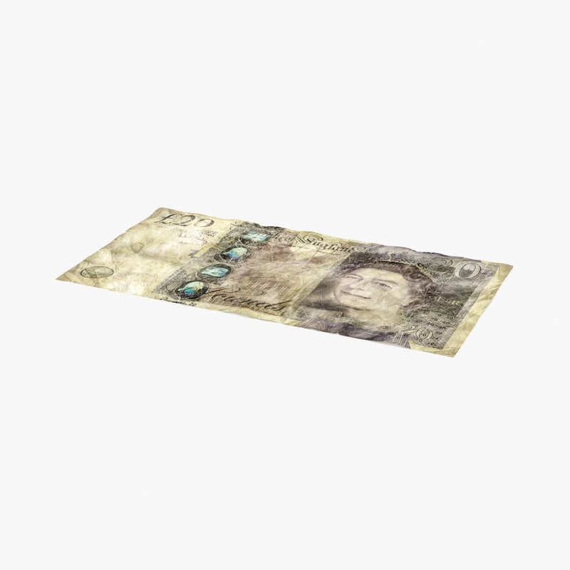 20 pound note 3d max
