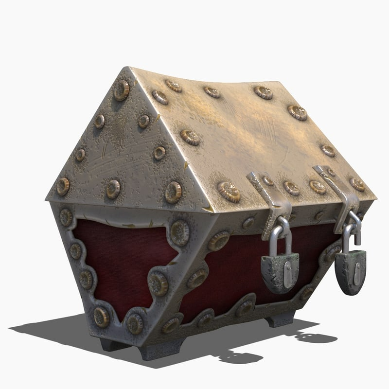 max vr metal treasure chest