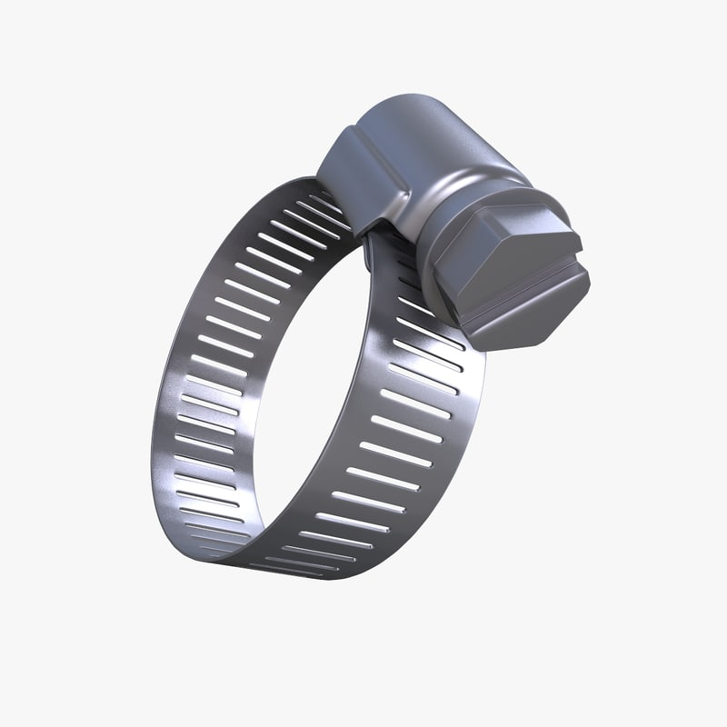hose repair clamp 3d model