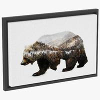 3d loon3236 kodiak brown bear model
