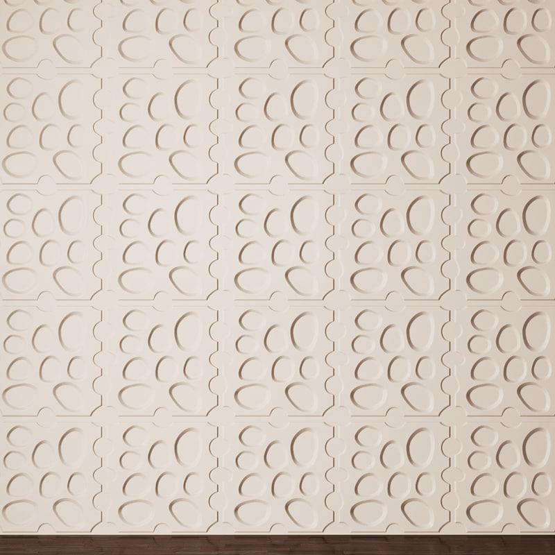 3d model panel pebbles