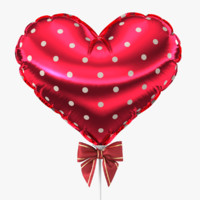 realistic balloon heart 3d model