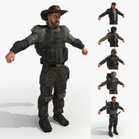 fbx male rangers - wasteland
