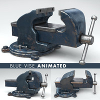 Vise tool blue animated