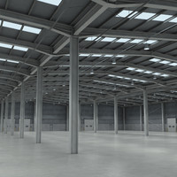 warehouse metal 3d obj