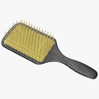 obj hairbrush hair brush