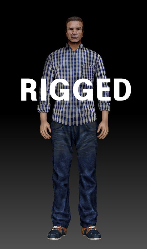 3d model rigging character