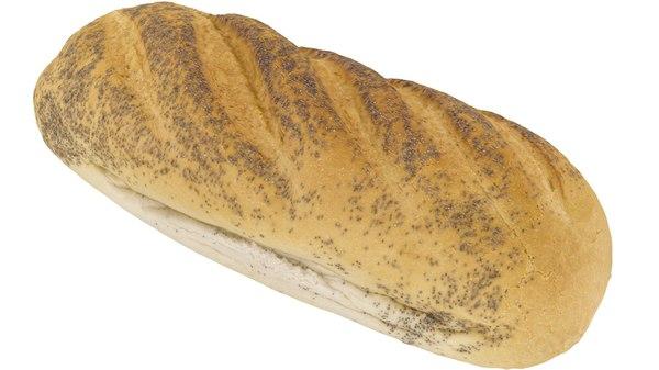poppy seed bread - 3d max
