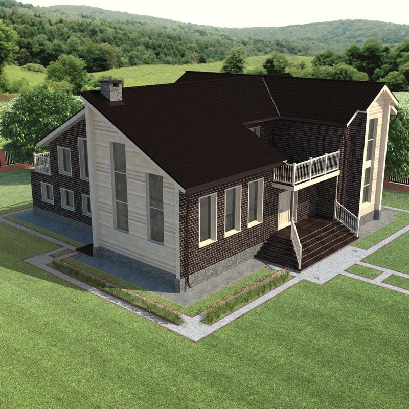 3d model house constructions