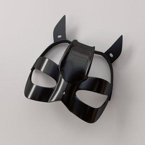 cat mask 3d model