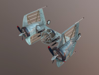 3d model diesel tie fighter