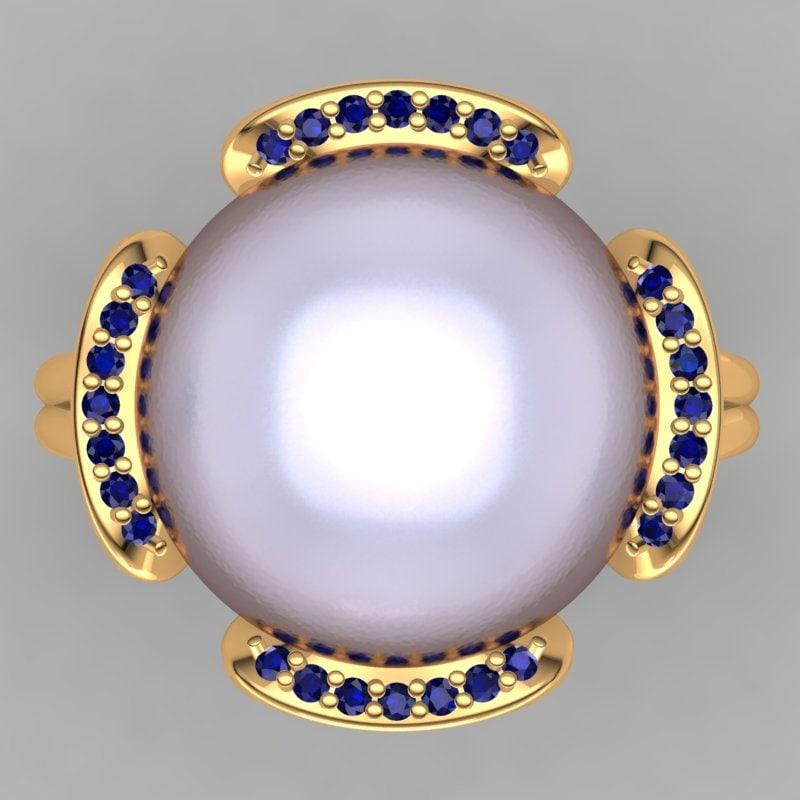 3d designer ring model