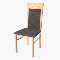 kitchen wood chair 3d max