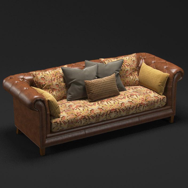 designer sofa leather 3d max