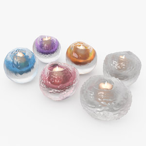 3d max 6 candle holders light