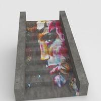 stairs graffiti 3d max