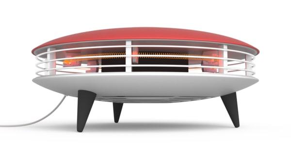 retro ufo style heater 3d fbx