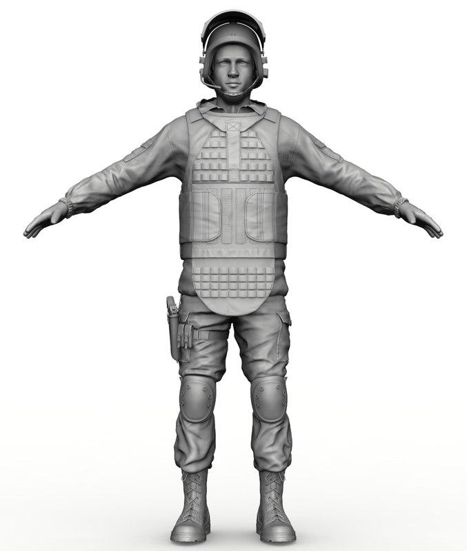 basic soldier zbrush 3d model