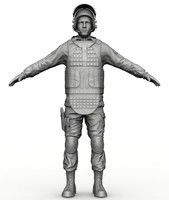 basic soldier zbrush 3ds