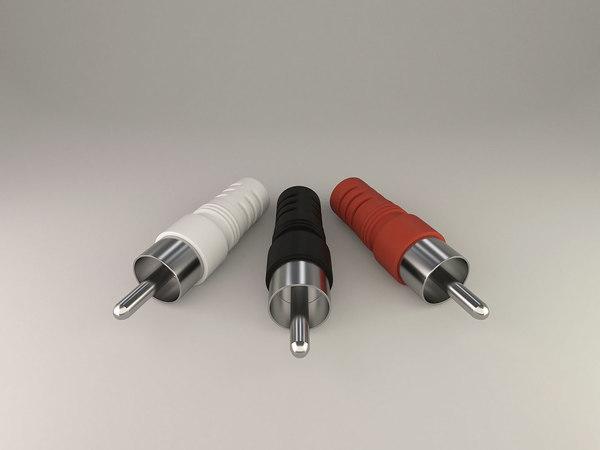 3d plug rca model