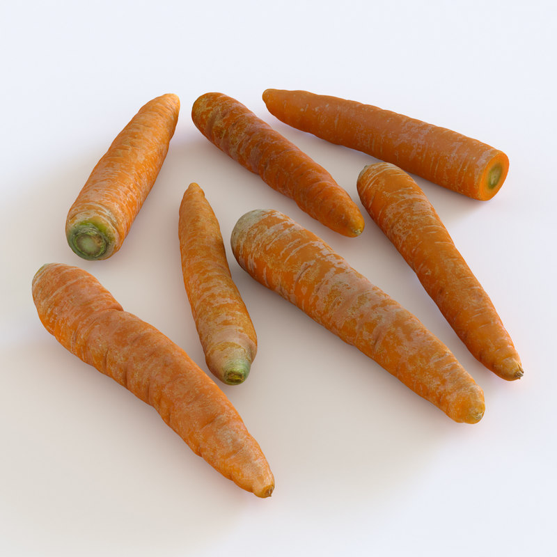 3d model scanned carrots