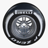 Formula1 Rear Wheel Pirelli PZero Medium Tire