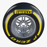Formula1 Rear Wheel Pirelli PZero Soft Tire