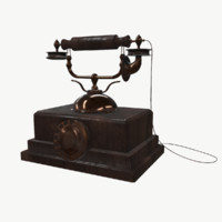 antique phone 3d fbx