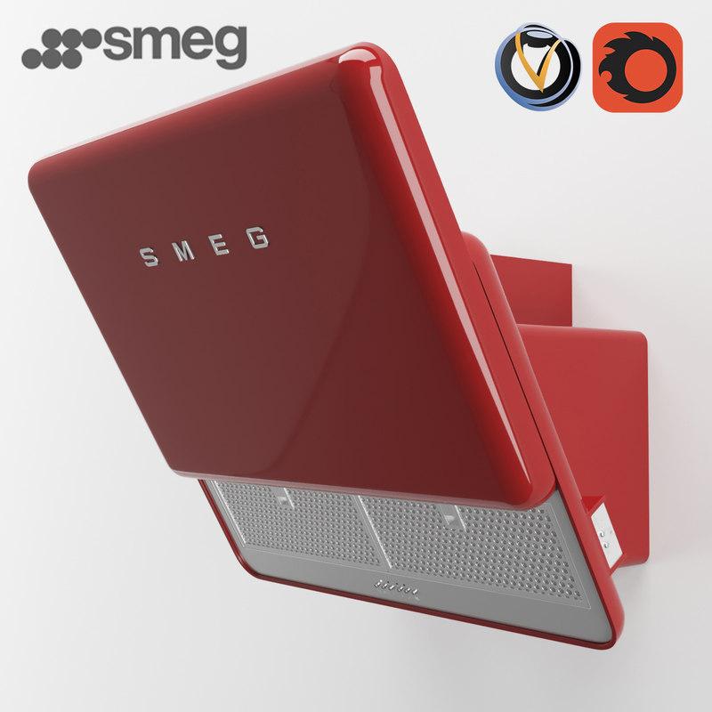 3d model of smeg kfab75 hood