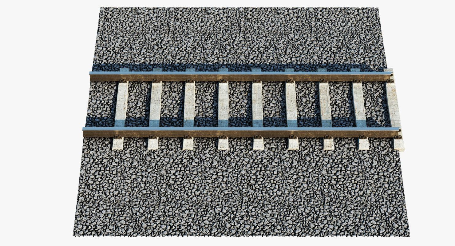 3d railway tracks