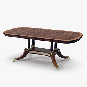 3d model of kirkham dining table