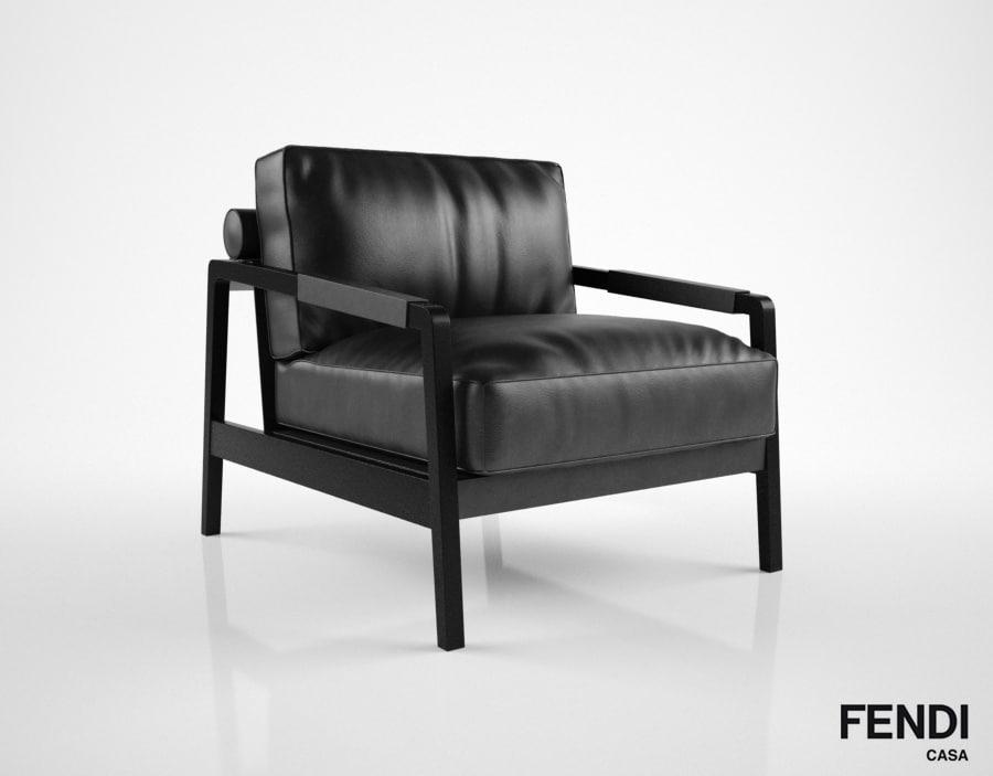 fendi casa kathy armchair 3d model