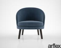 arflex jules armchair 3d obj