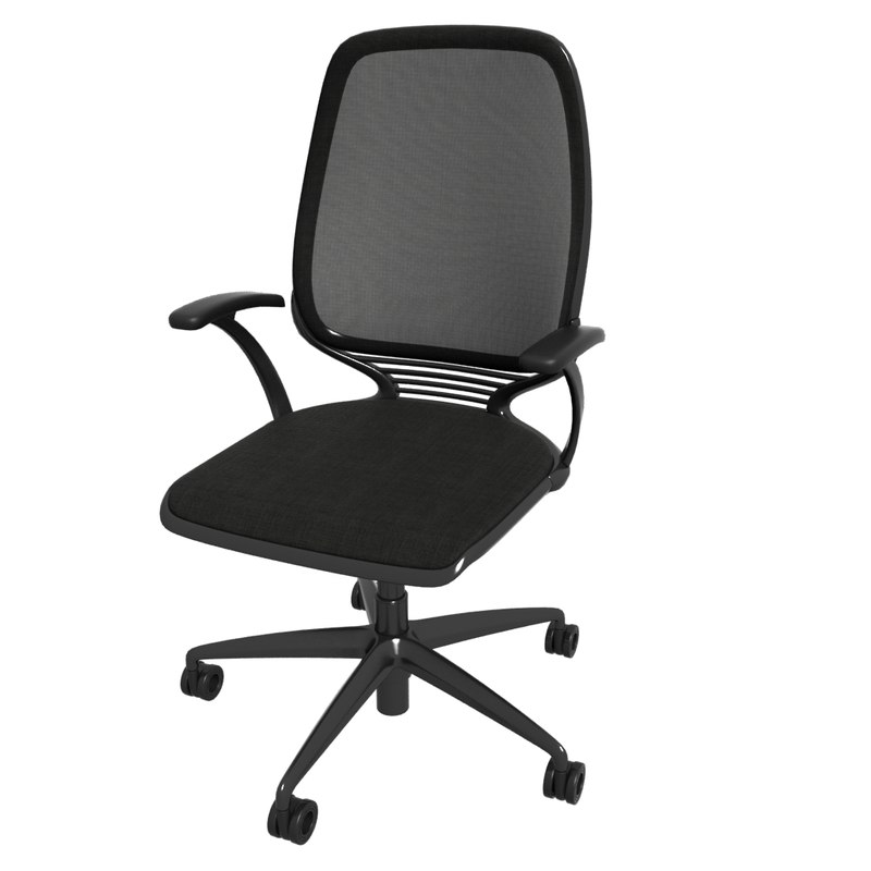3d max office chair 3
