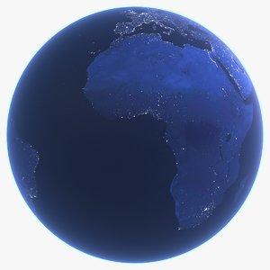 realistic earth dark 3d model