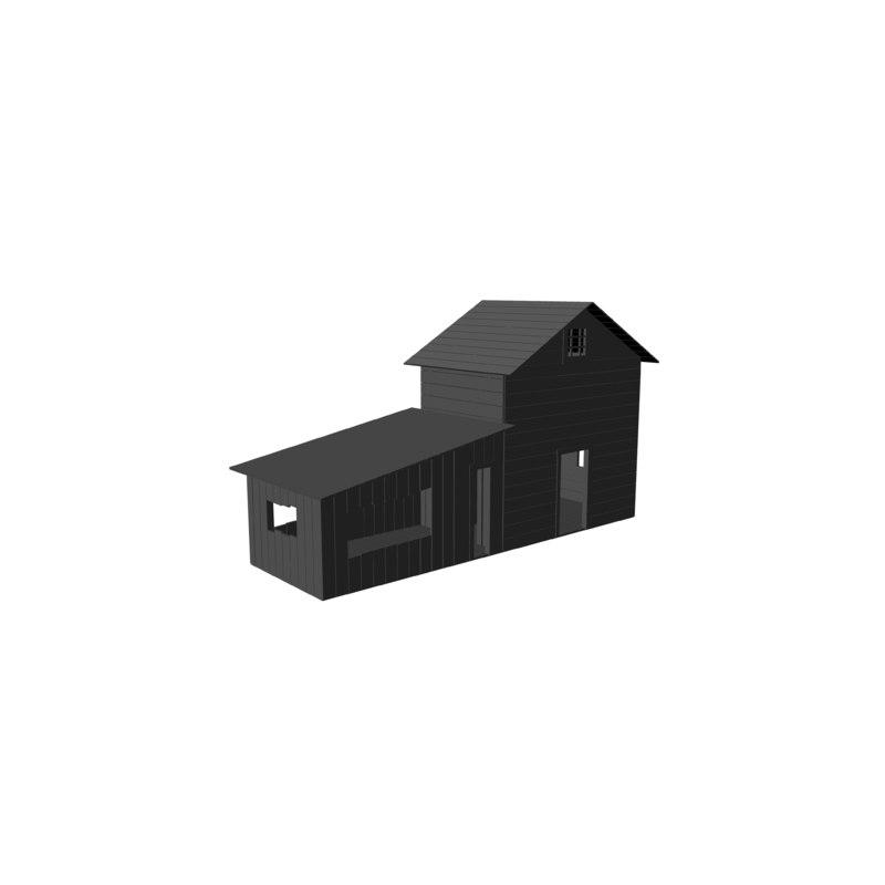 free fbx mode wooden house