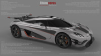 3d koenigsegg one:1 model