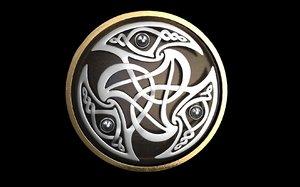 3d model of celtics interlacings