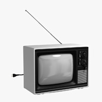 retro tv obj