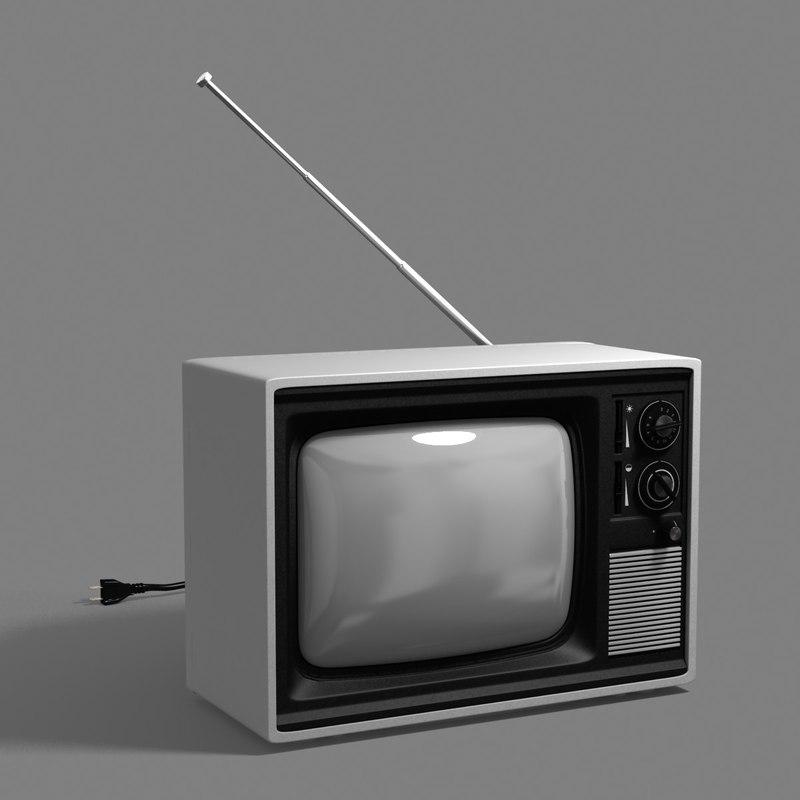 retro tv obj