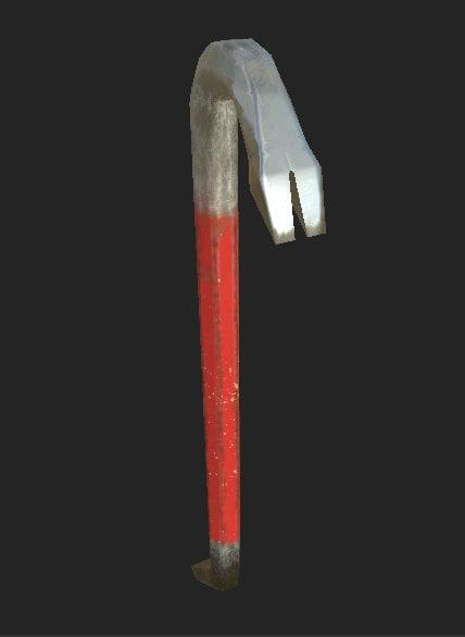 3d model crowbar