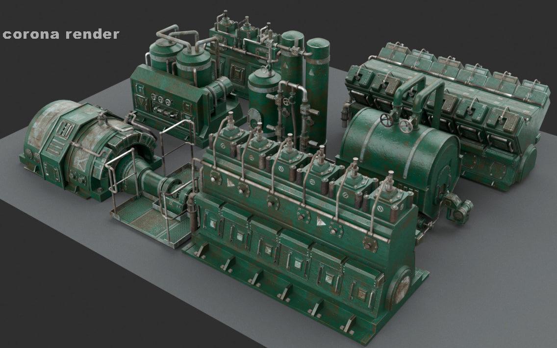 engine room 3d model