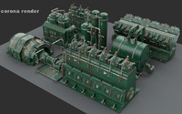 engine room 3d model