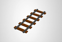 Low Poly Train Rails