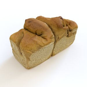 free scanned bread 3d model